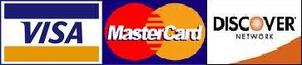 We accept Visa/Mastercard/Discover